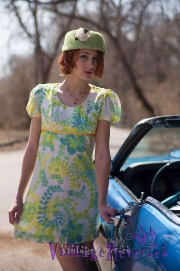 1960s psychedelic mini dress