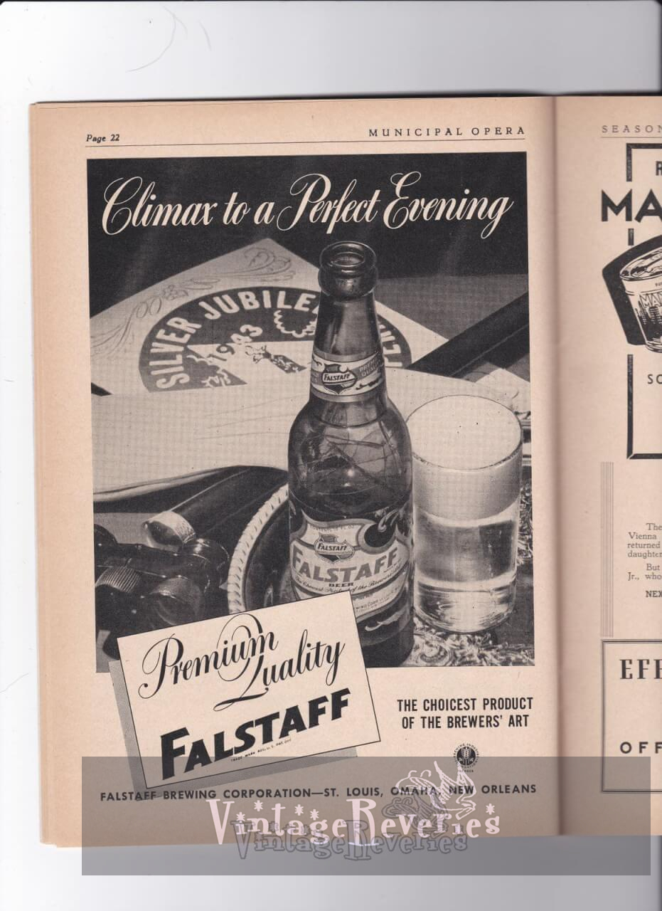 WWII Falstaff Brewing Co Ad