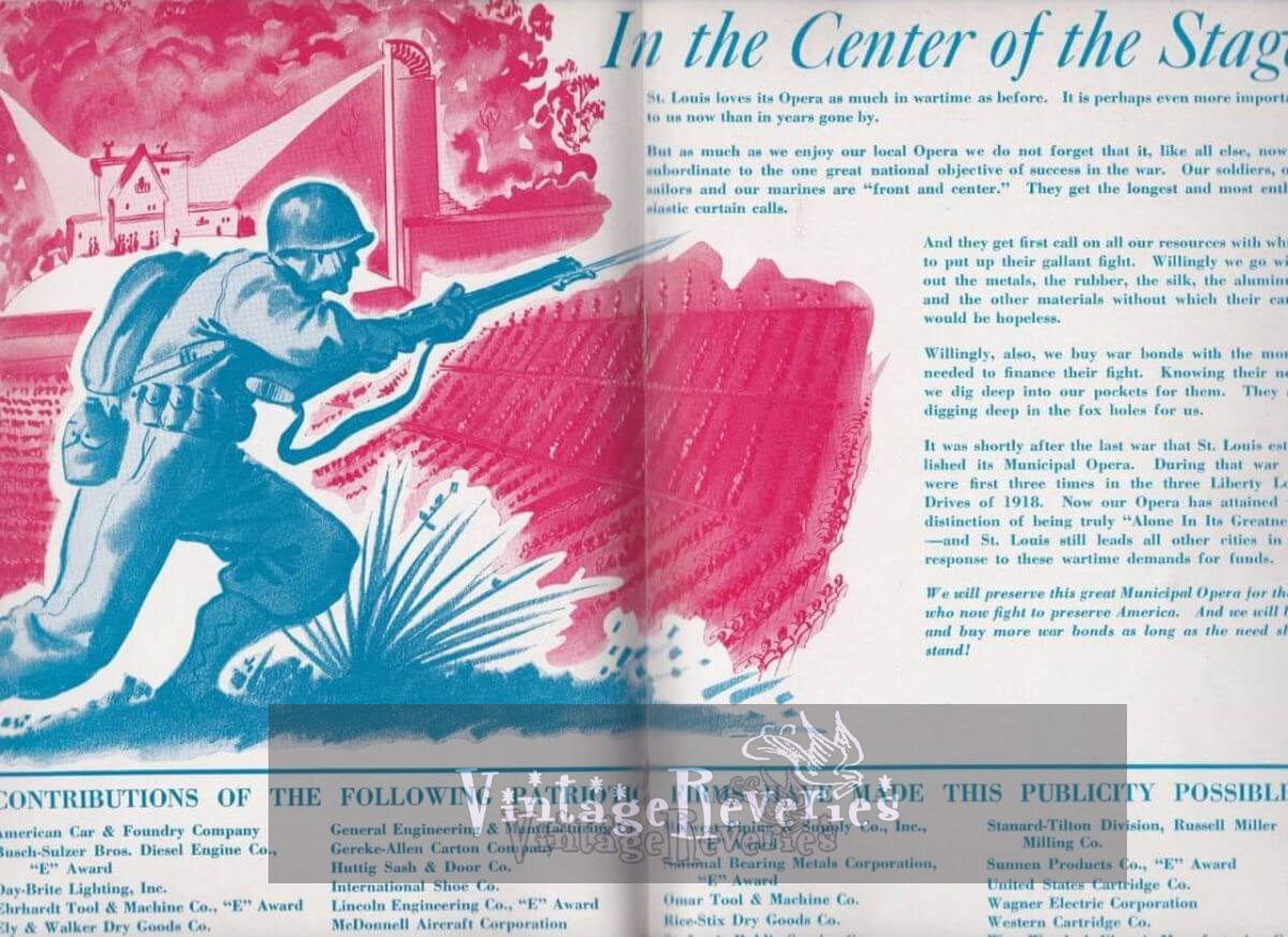 WWII Patriotic Ads for St. Louis Businesses