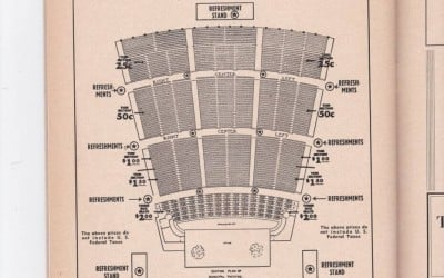 1940s St. Louis Municipal Opera Seating Chart and Ads