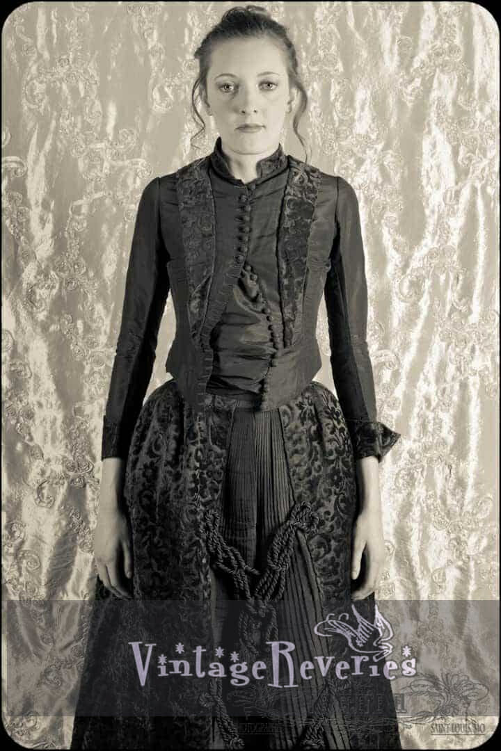 1880s dress from the front