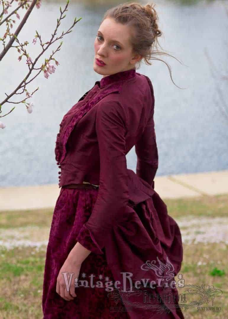 1880s going away dress