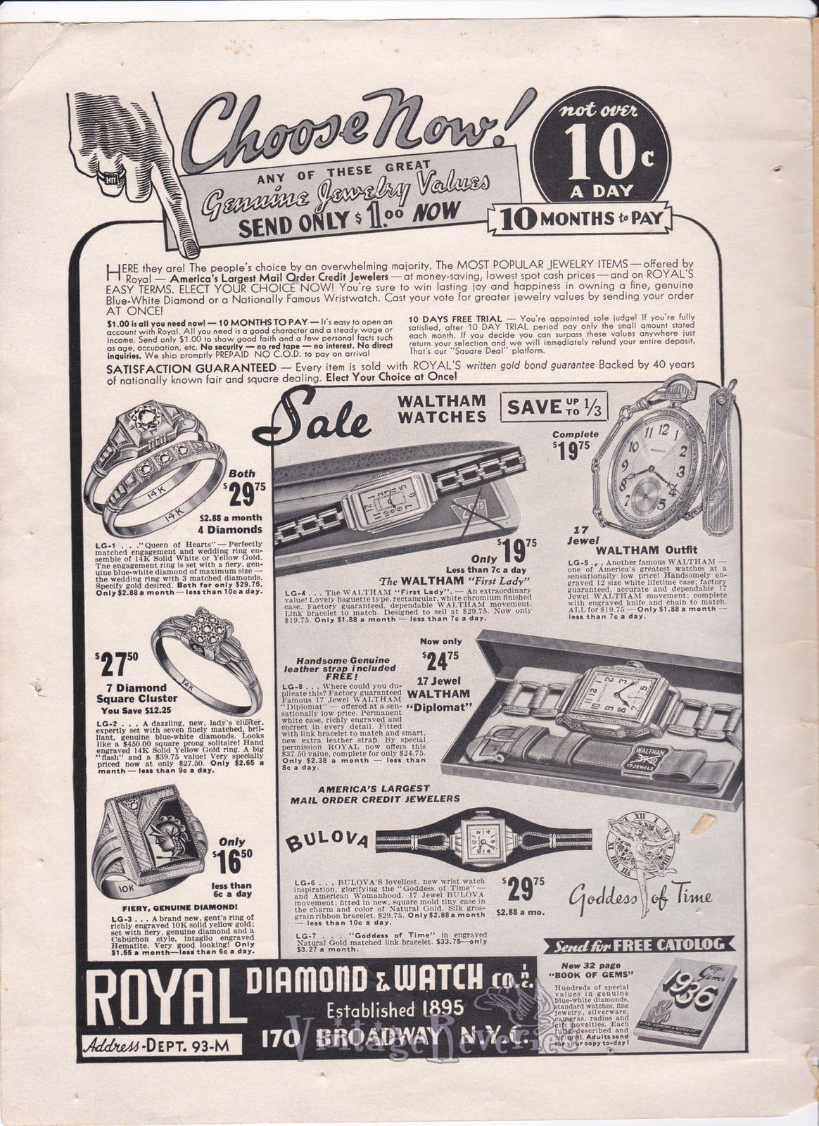 1935 Jewelry Advertisement