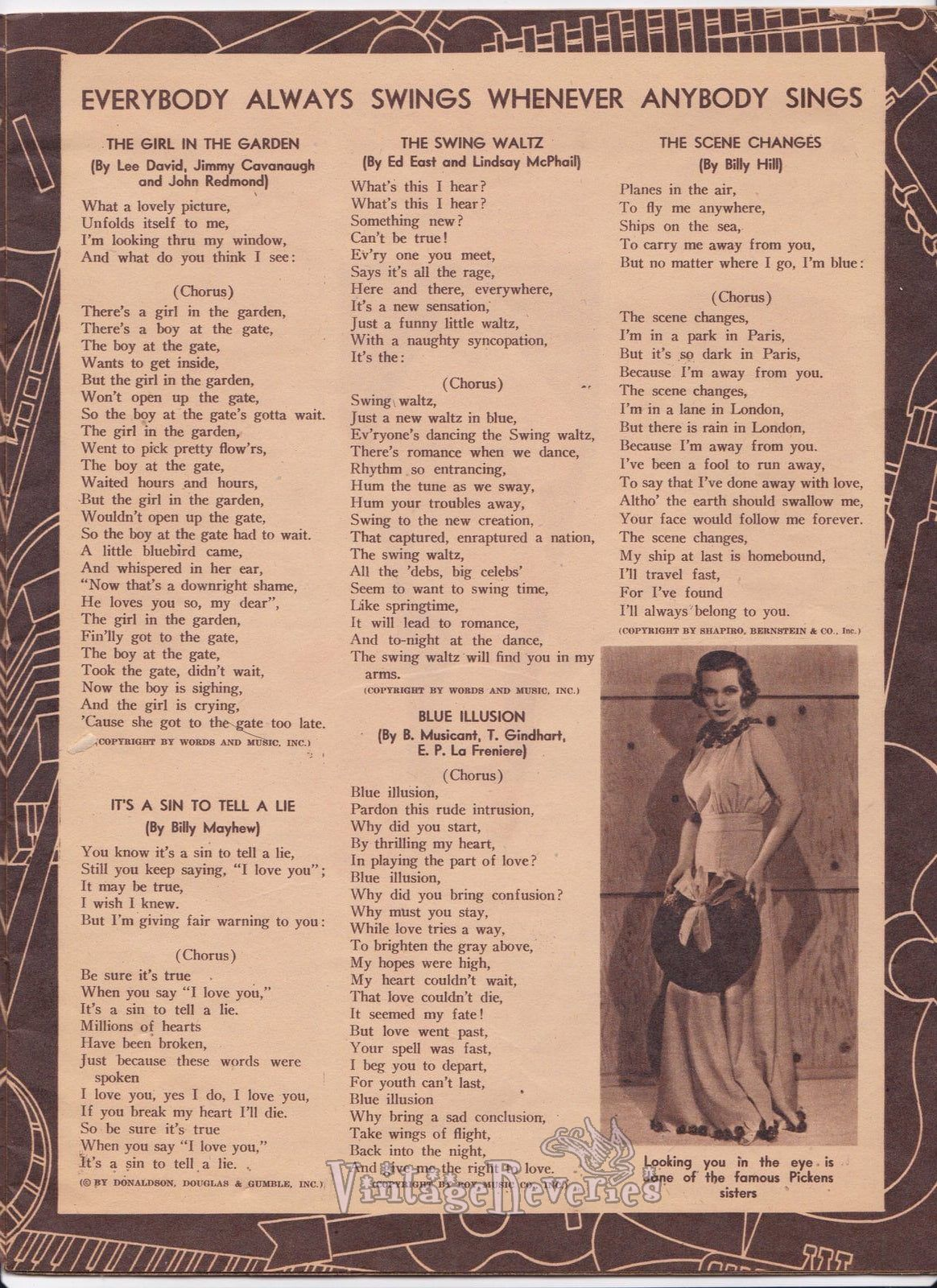 1930s pop song lyrics