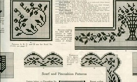 Edwardian Filet Crochet Pattern from 1917