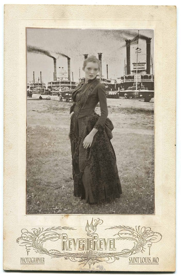 Photoshop with cabinet card